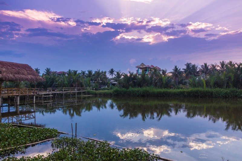 Meditation Retreat Vietnam - Write Your Journey: An Villa Boutique Resort Hoi An, Lake at Sunset