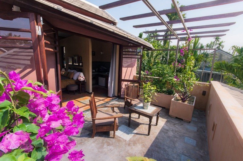 Meditation Retreat Vietnam - Write Your Journey: An Villa Boutique Resort Hoi An, private balcony with views over the lake and mangrove forest